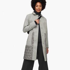 Lululemon Roam Far Wool Coat Gray Sz 12 NWT